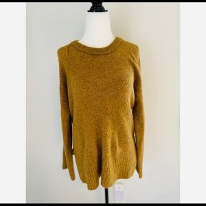 Madewell Yellow Pullover Sweater Buttons wool